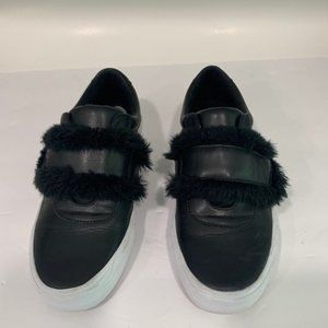 Jessica Simpson Leather and Faux Fur Sneakers